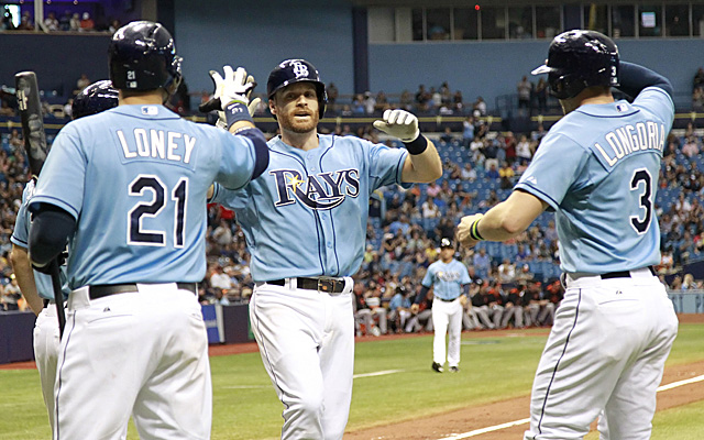 PECOTA has the Rays in first place; Sportsline has them fourth.