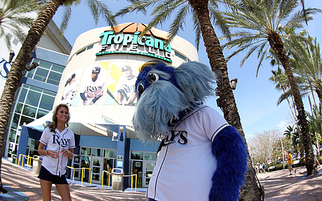 The Rays appear stuck in Tropicana Field for a long time.