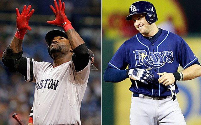 David Ortiz and Evan Longoria are set to do battle in the ALDS.