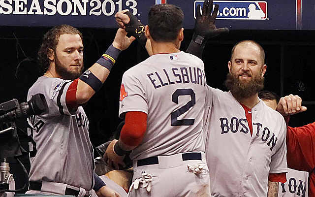 Jacoby Ellsbury's run in the seventh inning gave the Red Sox the lead for good.