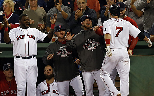 Stephen Drew's homer was a big blow in the Red Sox's playoff-clinching win Thursday night.
