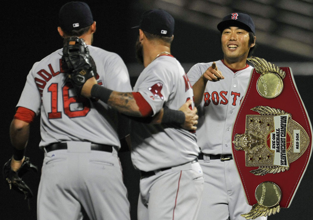 Koji Uehara and the Red Sox still have the belt.
