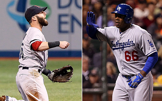 Dustin Pedroia and Yasiel Puig would take part in our dream World Series.