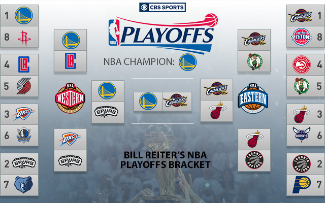 2016 NBA Playoff Brackets: Warriors unanimous champs among ...