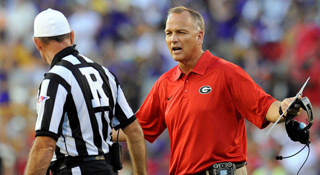 Mark Richt and Georgia were ranked preseason No. 5 last year and finished 8-5. (USATSI)