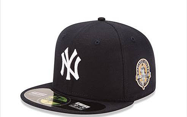 The Yankees will honor Mariano Rivera by wearing these hats Sunday.