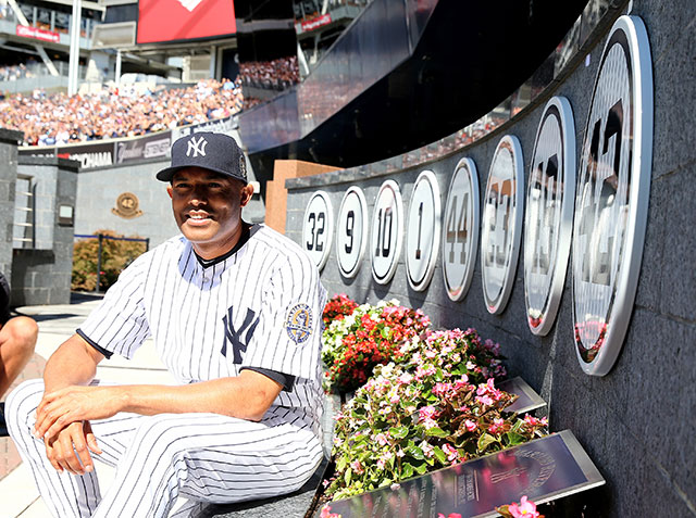 Mariano Rivera and flowers.