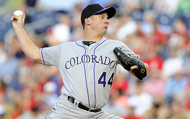 Roy Oswalt's Rockies' debut had both good and bad.
