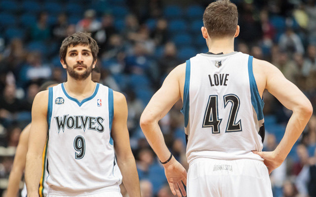 Are Ricky Rubio and Kevin Love on the same page? (USATSI)