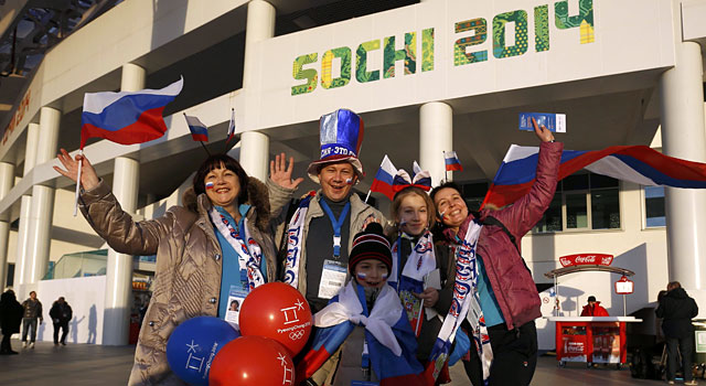 Fans are starting to arrive for the start of the Opening Ceremony. (Reuters)