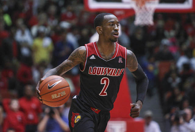 Russ Smith has scored in double figures in every game but one this season. (USATSI)