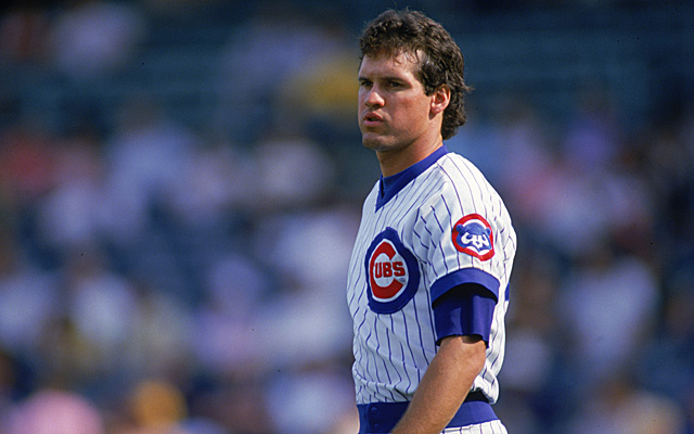 Ryno as a rookie in 1982 Cubbie Blue.