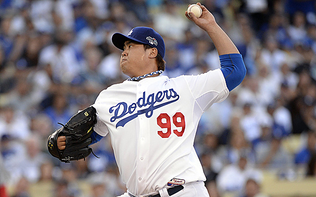 Hyun-Jin Ryu was the story in Game 3 of the NLCS. (USATSI)