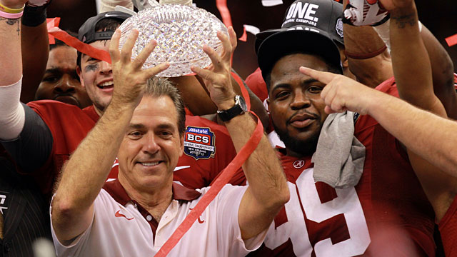 Alabama won the 2011 national title by beating LSU. (Getty)