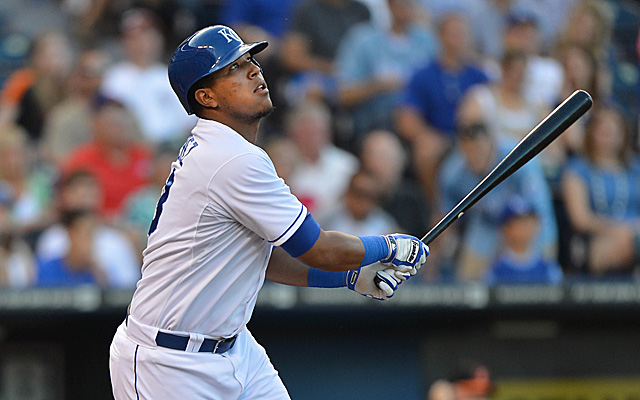 Salvador Perez has hit the 7-day concussion disabled list.