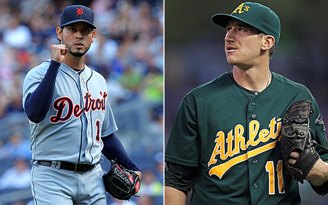 It's Anibal Sanchez vs. Jarrod Parker in Game 3 of the Tigers-A's ALDS.