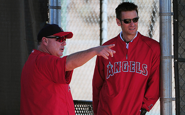 Both Mike Scioscia and Jerry Dipoto will be back with the Angels next year.