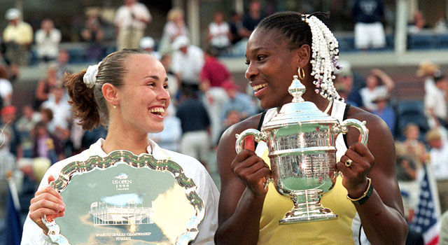 Serena Williams beat Martina Hingis in 1999 to win her first Grand Slam title. (Getty)