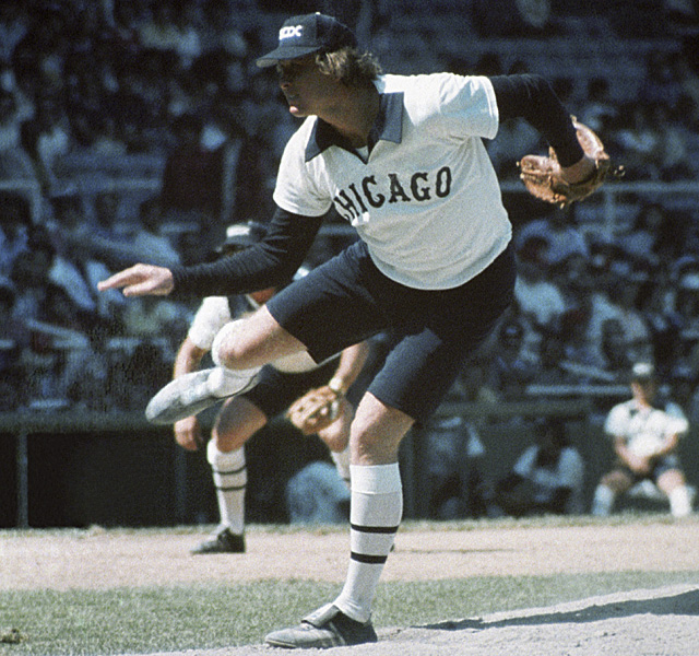 Rich Gossage looks like a silly goose in these White Sox unis from 1976.