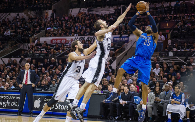The Mavericks almost upset the Spurs Sunday in Game 1. (USATSI)