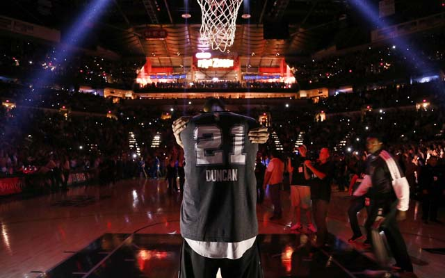 The Spurs may have to visit Cleveland on opening night.  (USATSI)