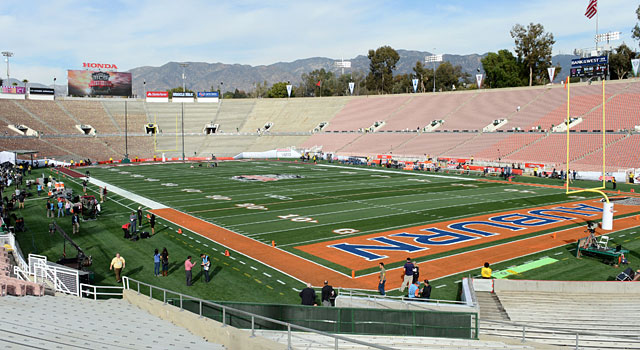 The Rose Bowl all ready for the BCS Championship between Auburn and Florida State. (USATSI)