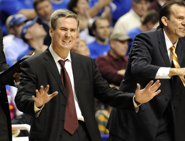 Rick Stansbury probably looks like this all the time now.