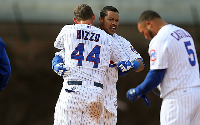 Starlin Castro, after a walkoff hit earlier this season.
