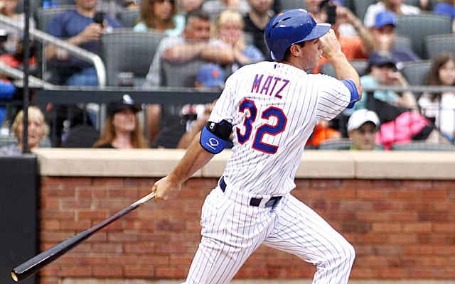 Steven Matz had a historic debut at the plate.