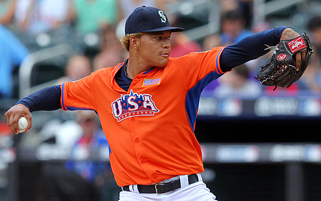 Taijuan Walker, pitching in the Futures Game this past July.