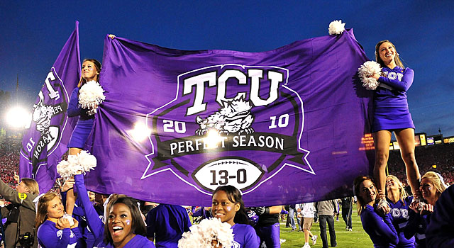TCU finished 13-0 after winning the Rose Bowl, but never got a shot at the national title. (USATSI)