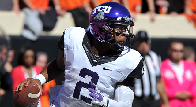 Trevone Boykin has been taking quarterback reps, but can also play wide receiver. (USATSI)