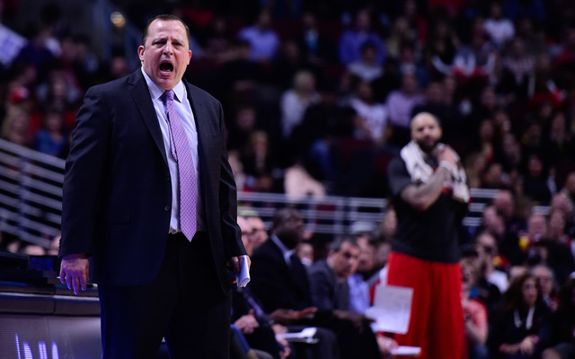 Tom Thibodeau coached the Bulls up and down this season.  (USATSI)