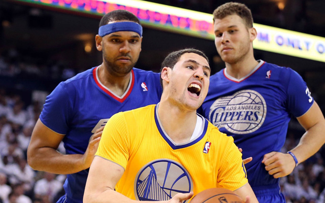 Klay Thompson called out Blake Griffin for flopping.  (USATSI)