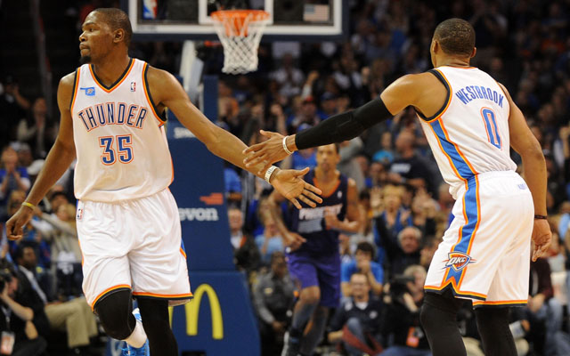 Kevin Durant and Russell Westbrook are back to work.  (USATSI)