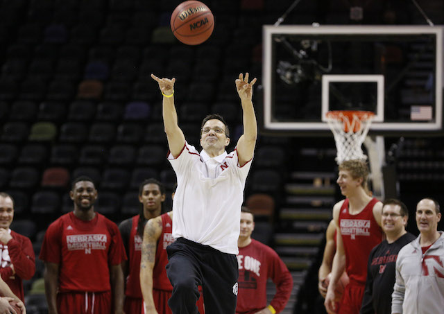 Tim Miles and Nebraska seem loose before Friday's game against Baylor. (USATSI)