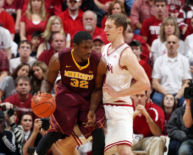 Trevor Mbakwe will need to make plays in the paint and on the offensive glass if Minnesota is to upset Indiana. (UTATSI)