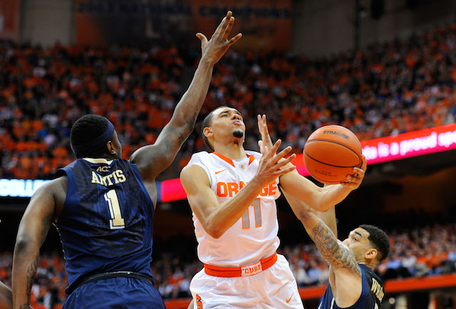 Tyler Ennis had 16 points in Syracuse's first meeting with Pittsburgh. (USATSI)