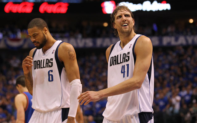 Tyson Chandler and Dirk Nowitzki are getting the band back together.  (USATSI)