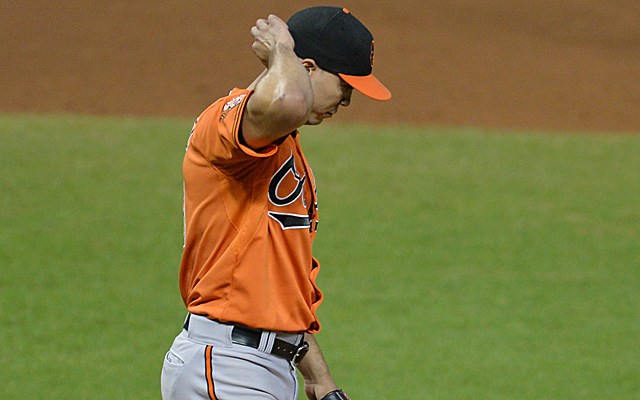 Ubaldo Jimenez has been moved to the bullpen.