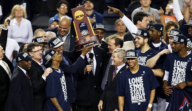 Connecticut earned 200 points for winning the men's basketball tournament. (USATSI)