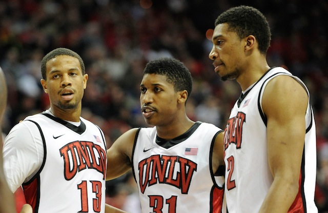 It will be interesting to see which UNLV shows up going forward in the NCAA tournament. (USATSI)