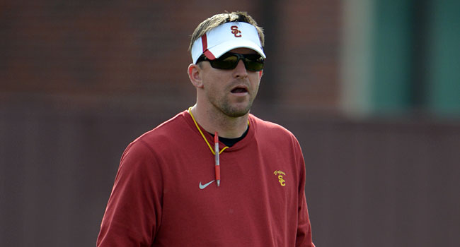 USC defensive coordinator Justin Wilcox is quickly moving up the ladder. (USATSI)