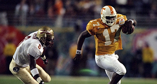 Tee Martin ended up leading Tennessee to a 13-0 record and the first BCS Championship. (Getty)