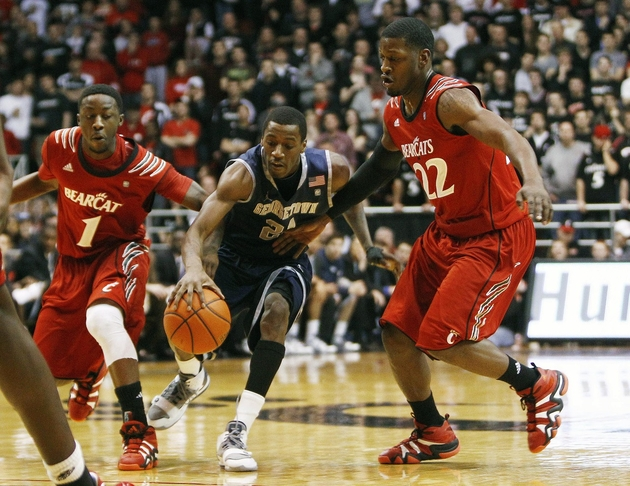 Cincinnati held the Hoyas under 50 points in each meeting this season