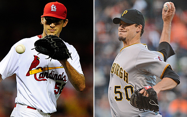 It's Michael Wacha vs. Charlie Morton for Game 4 of the NLDS in Pittsburgh Monday.