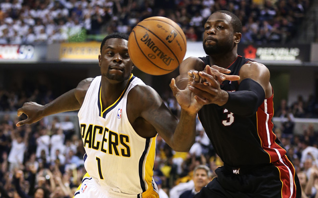 Lance Stephenson and Dwyane Wade aren't big fans of each other. (Getty Images)