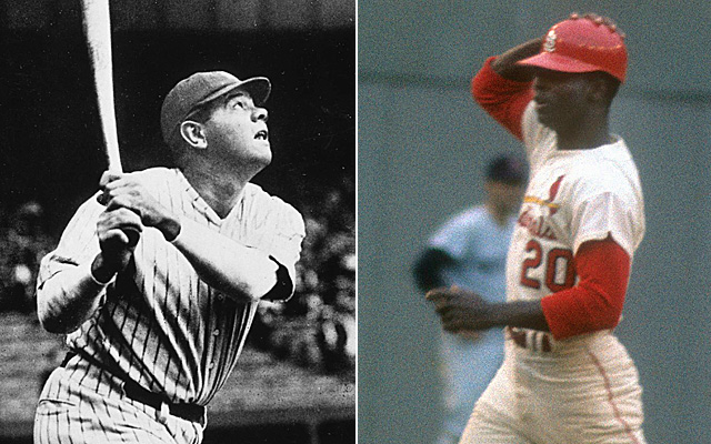 Babe Ruth and Lou Brock made out top 10 all-time Fall Classic hitters list.