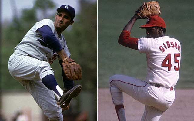 Bob Gibson and Sandy Koufax headline our list of top World Series pitchers.