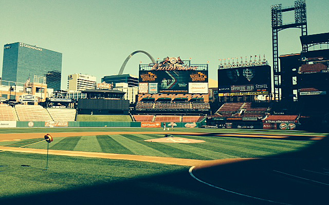 The view from the field, about 3.5 hours until Game 5.